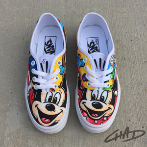 Disney Character Collage Hand Painted Vans Shoes