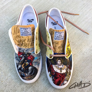 Napoleon - Custom hand painted Nike SB Janoski Shoes