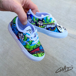 Thomas the Tank custom hand painted Children's Vans shoes