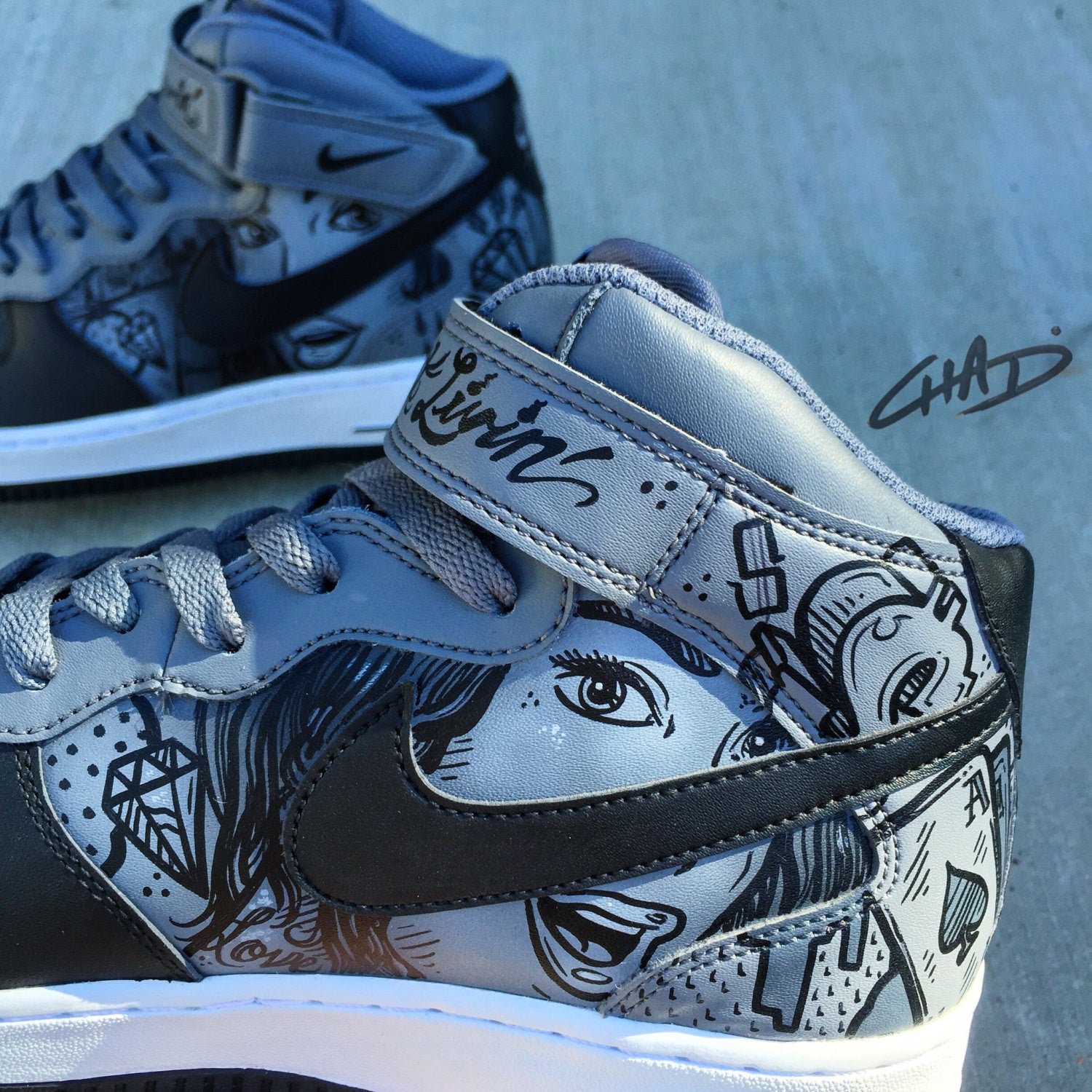 Hand painted air forces | Custom nike shoes, Air force shoes