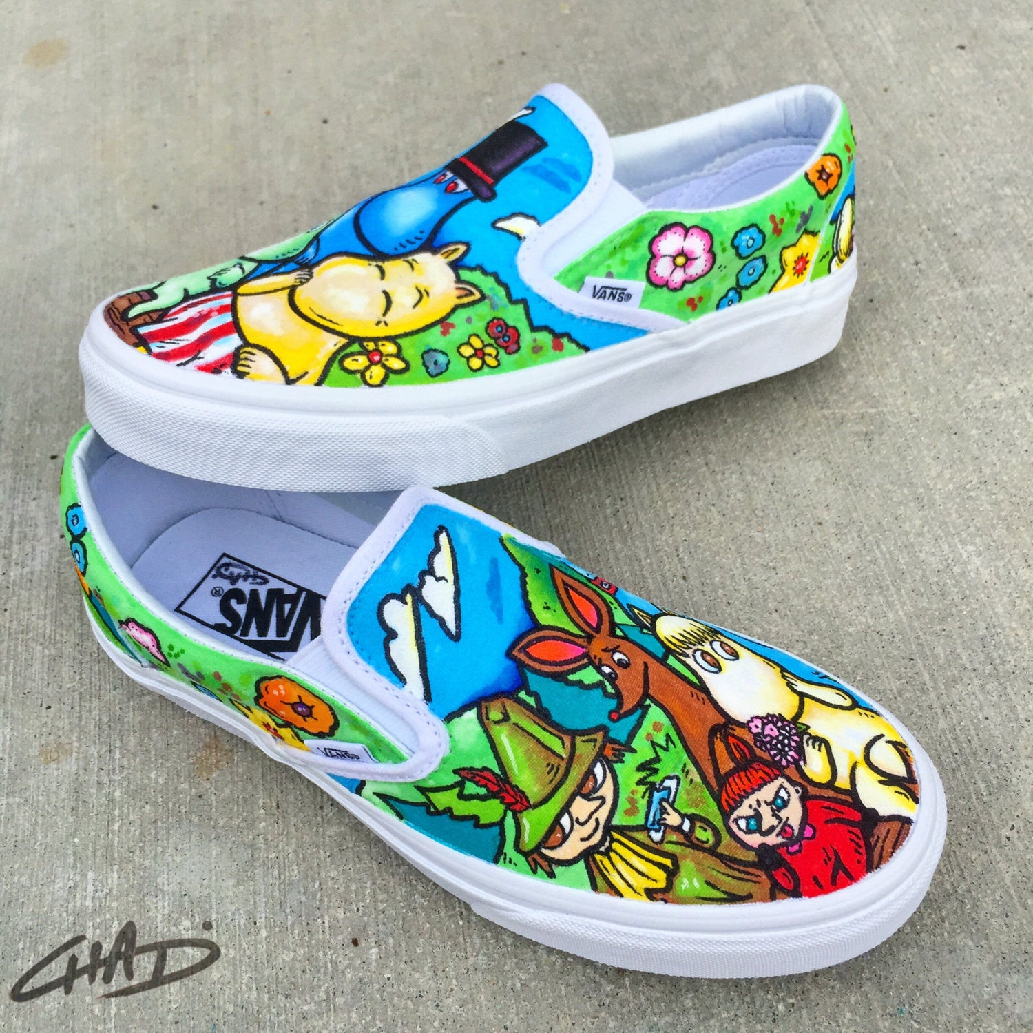 Moomin custom Hand Painted Vans shoes