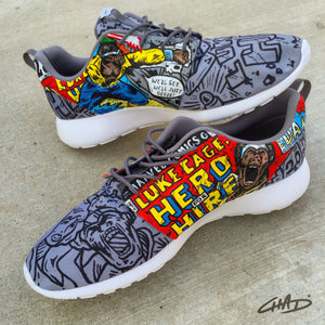 Hero for Hire - Luke Cage custom hand painted Nike Roshe shoes