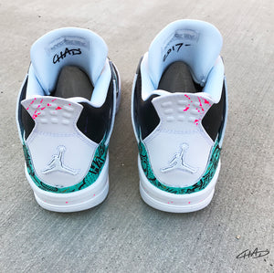 Pearl 4's - Custom Hand Painted Jordan retro 4 shoes