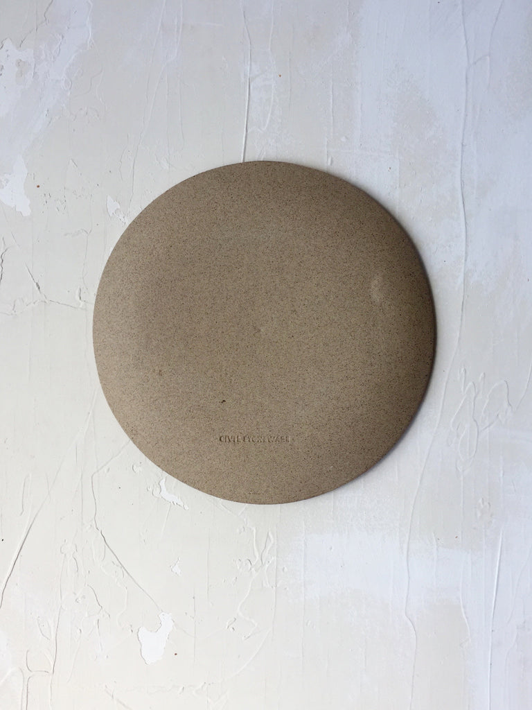 8.5 inch Orb Plate in Sand