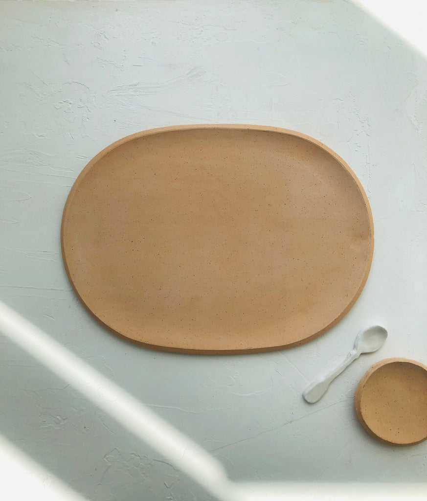 Oval Server in Peach