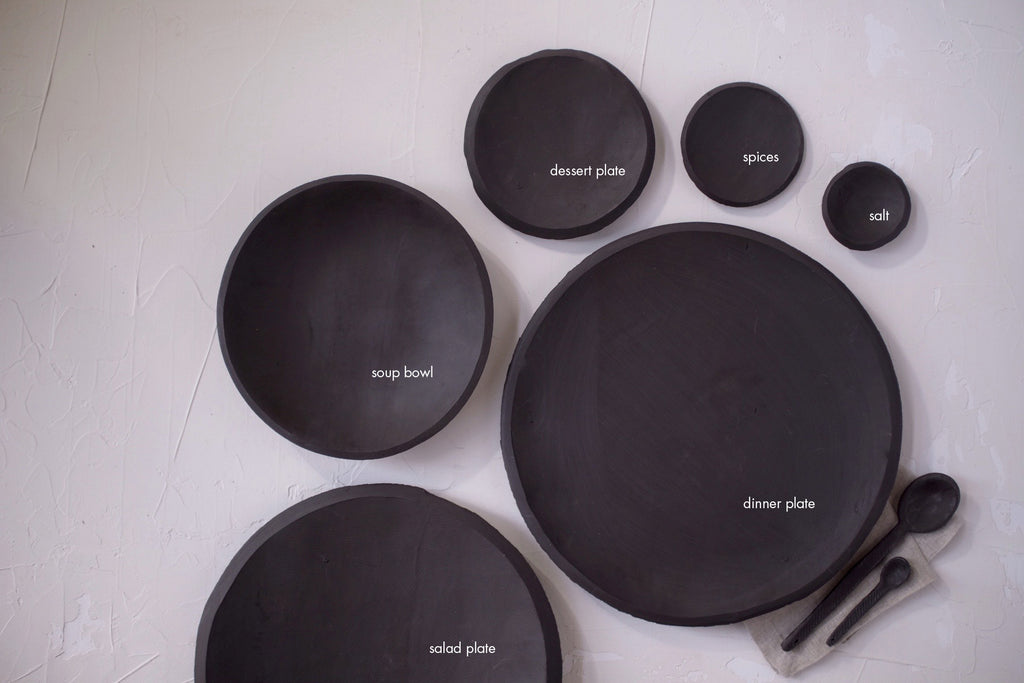 10.5 inch Orb Plate in Black