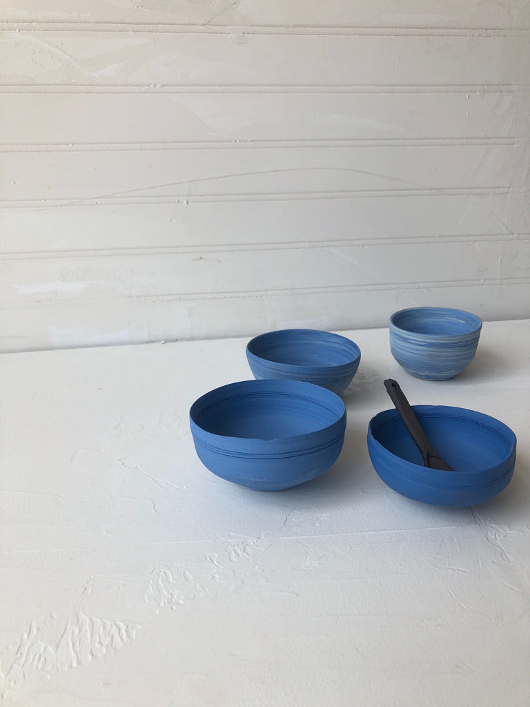 Teabowl / Ramekin in Blue Porcelain
