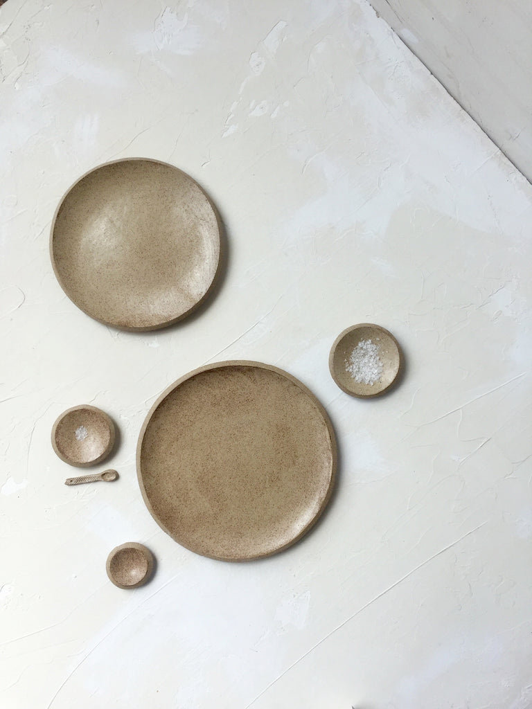 10.5 inch Orb Plate in Sand