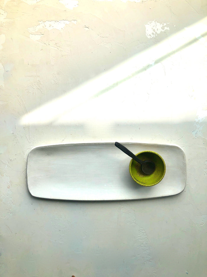 Elongated Serving Platter in Blanc