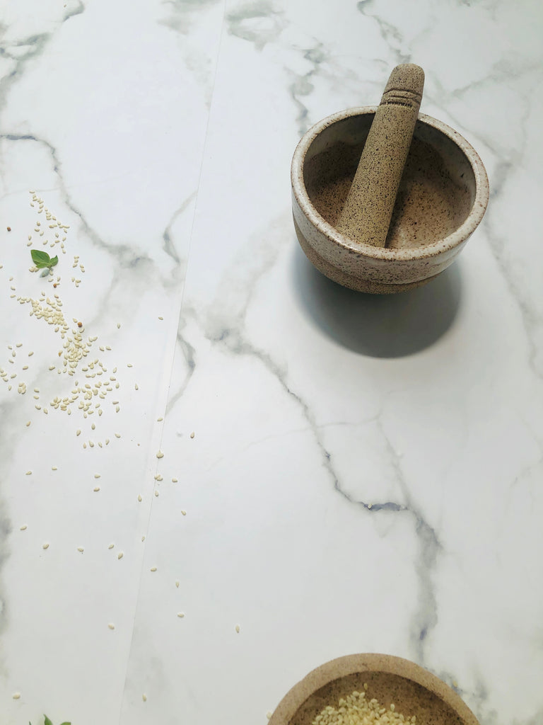 Mortar + Pestle in Satin Oat