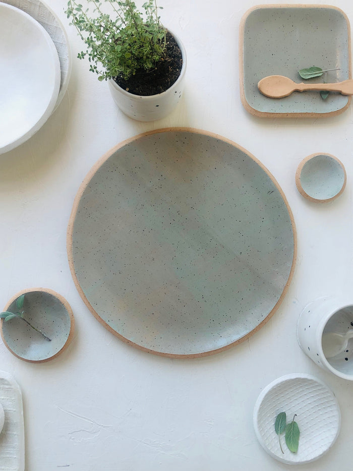 10.5 inch Orb Plate in Sage