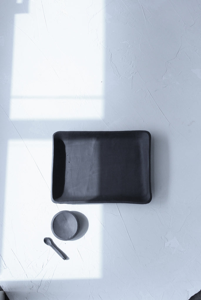 cafe serving tray in Black
