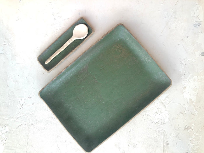 cafe serving tray in Hunter Green