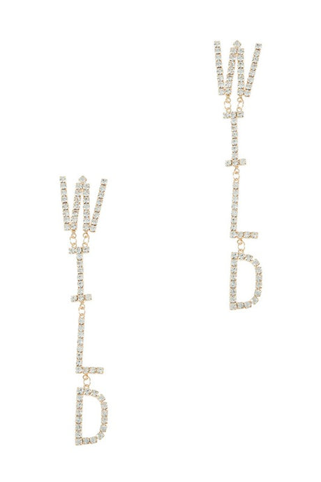 WILD drop earrings