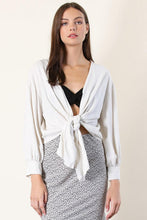 Load image into Gallery viewer, Mia Linen Front Tie Cardigan