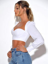 Load image into Gallery viewer, Angelic Corseted Long Sleeve Top