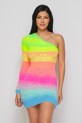 Rainbow Plush Dress