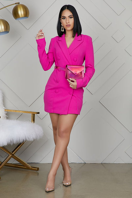 Madison Blazer Dress (comes with removable bag belt)