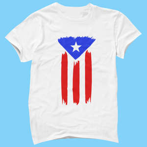 Painted Puerto Rican Flag Shirt