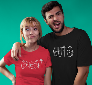 CHEST  NUTS Funny Couple Christmas Shirts