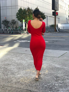 Reddy Or Not Midi Dress