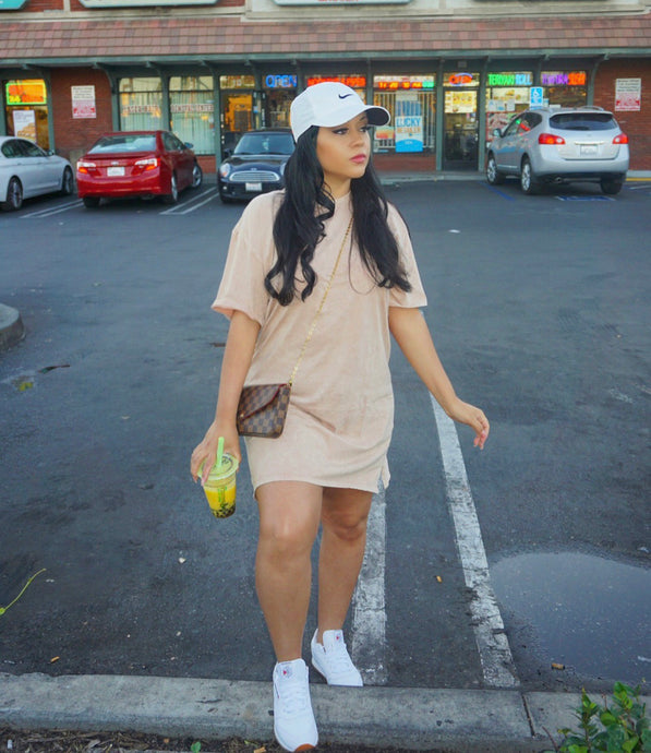 Peachy Keen T-Shirt Dress