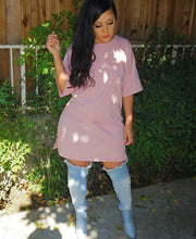 Load image into Gallery viewer, Pretty in Pink T-shirt dress