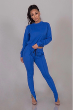 Load image into Gallery viewer, Bianca Blue Jogger Set