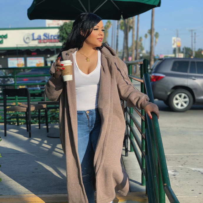 Brown Sugar Hoodie Coat
