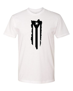 Puerto Rican Flag Tee (unisex) Black, White, Red & Hot Pink