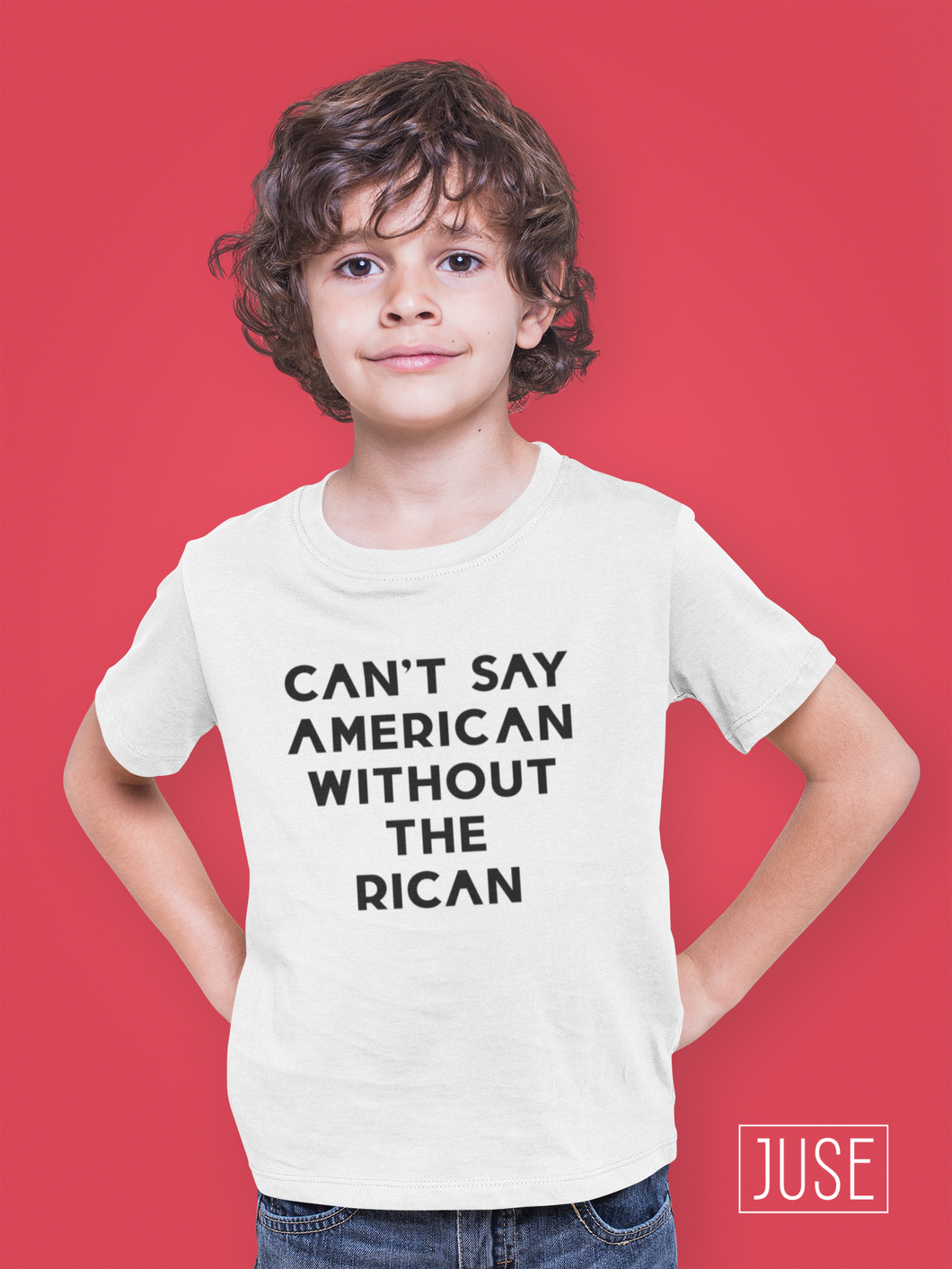 Can't Say American Without The Rican T-Shirt (YOUTH)