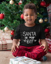 Load image into Gallery viewer, Santa is my BFF Christmas Shirt