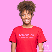 Load image into Gallery viewer, RACISM is small dick energy (unisex shirt) (3 Styles!)