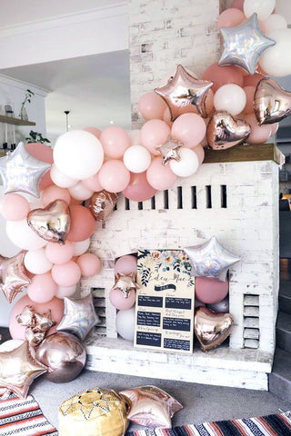 balloon decorations peach color theme