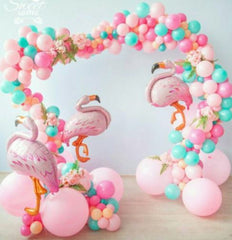 flamingo birthday party balloons