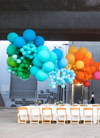 rainbow colours balloons decorations