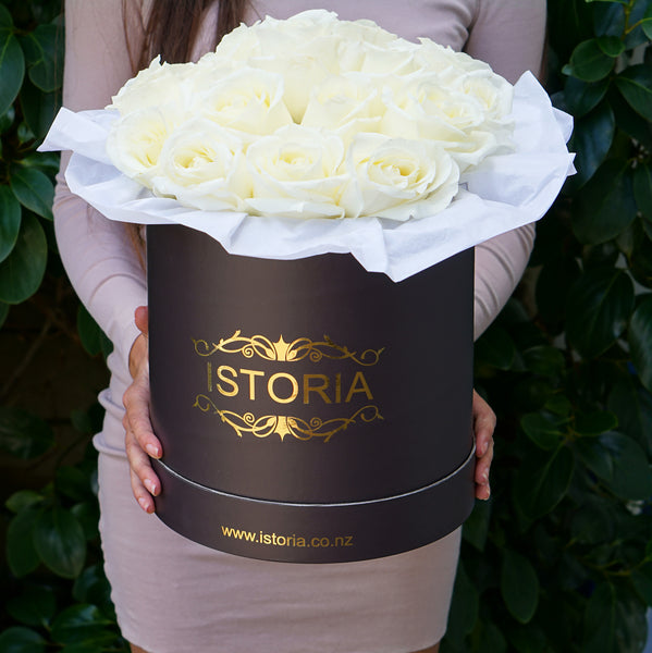 white roses delivery