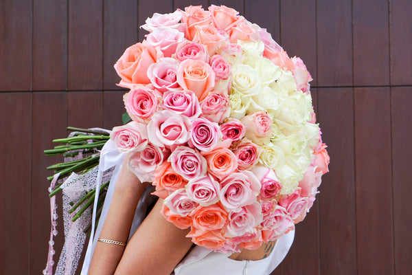 proposal bouquet 100 roses