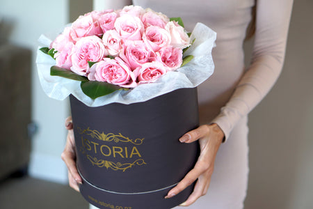 Magnificent Roses in black box- available in different colours