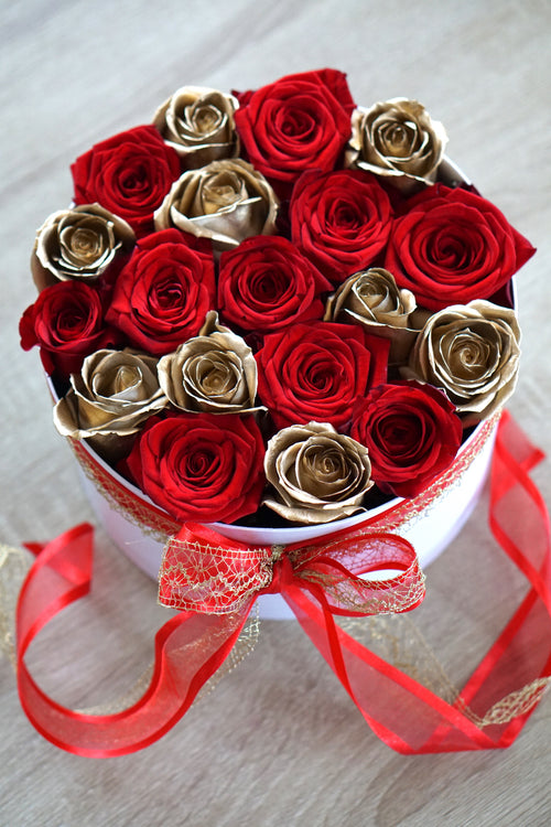 red and gold roses New Zealand