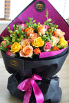 roses bouquet bright