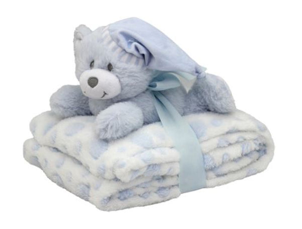 Snuggle Bear Blanket - Boy