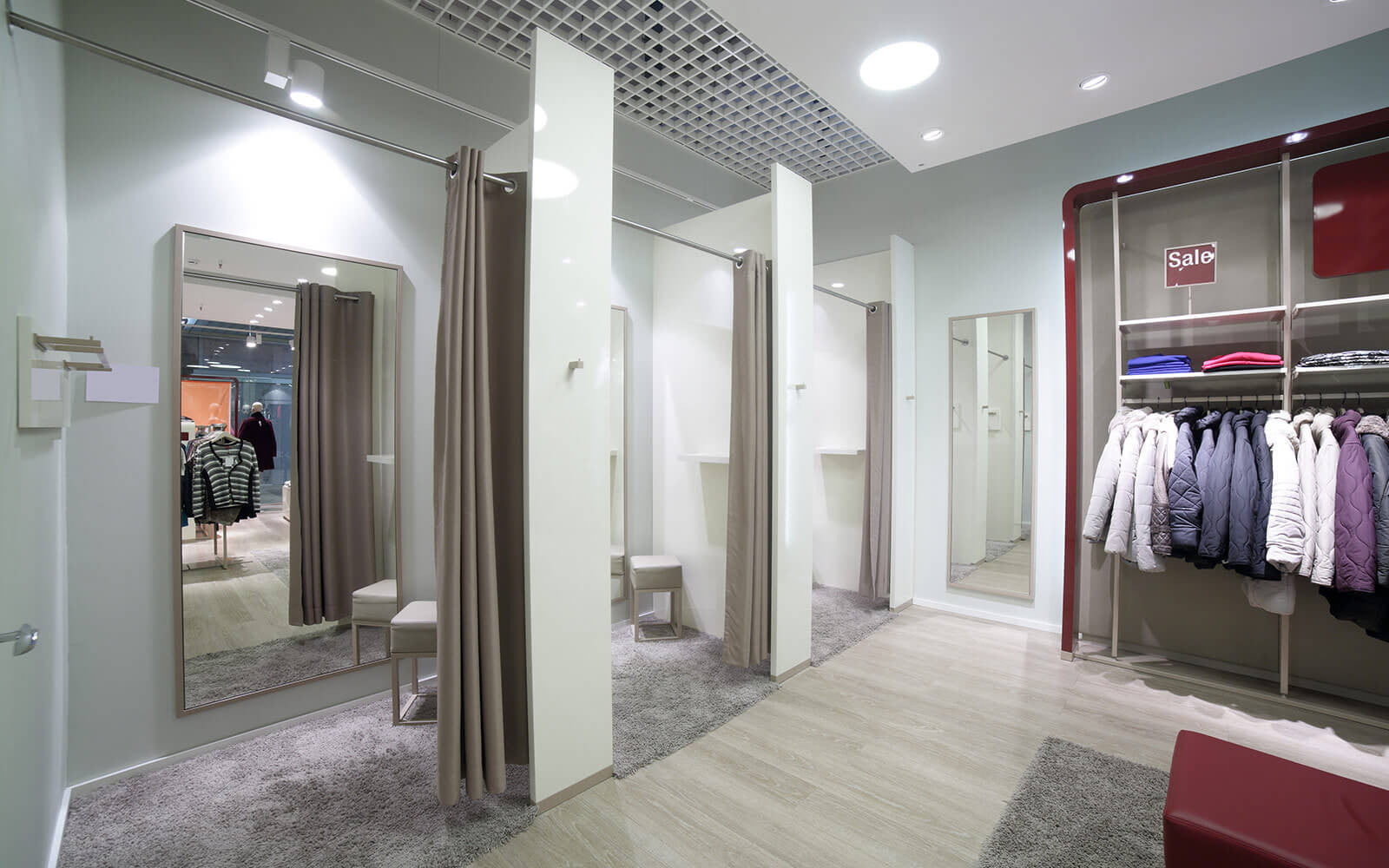 Glam Stores dressing room for trials