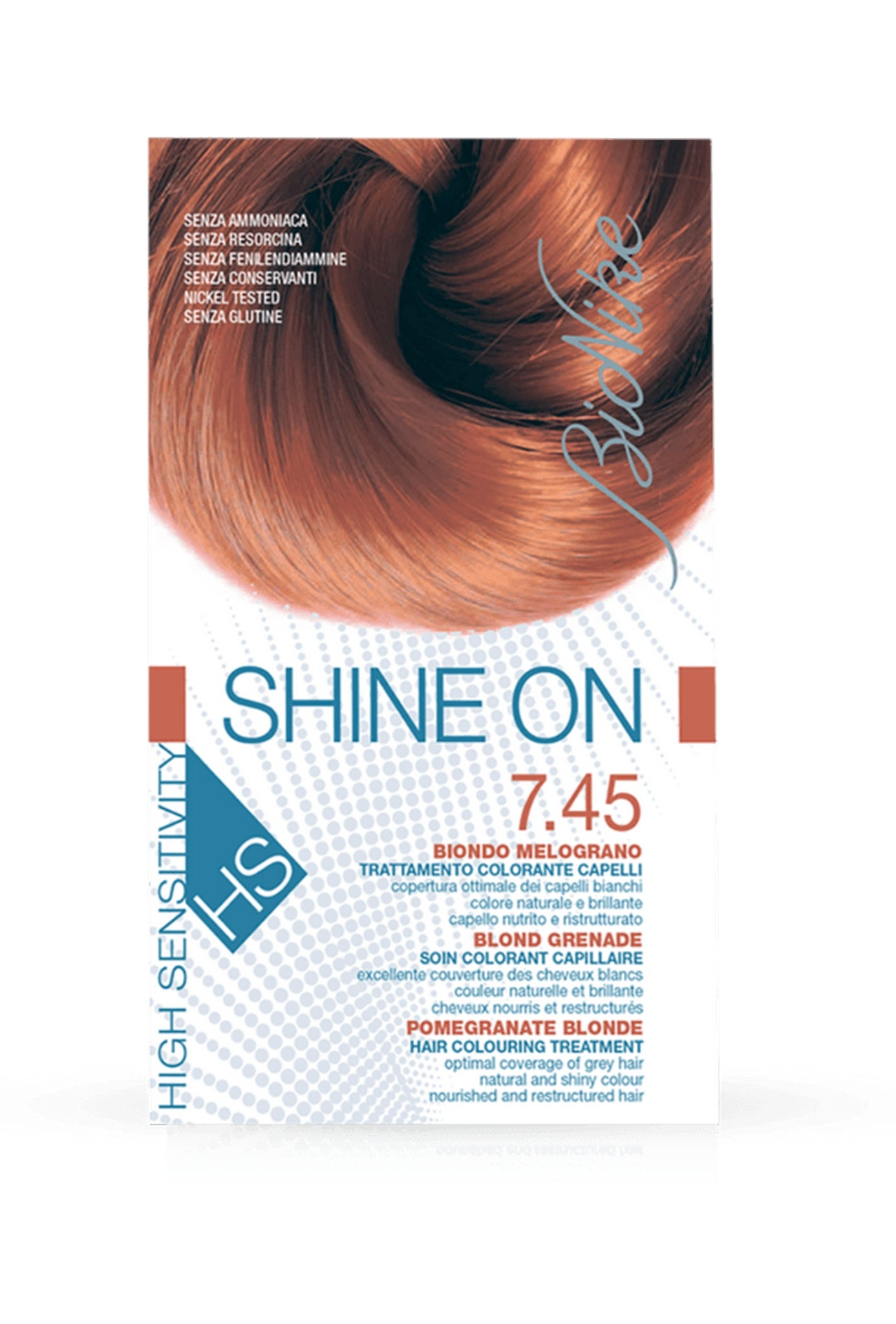 SHINE ON HS Hair Colouring Treatment (7.45 - Pomegranate Blonde)
