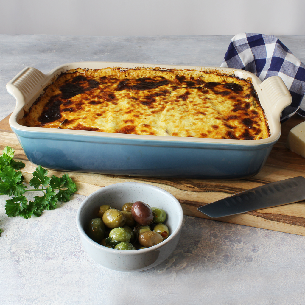 Incredible Moussaka with yogurt béchamel