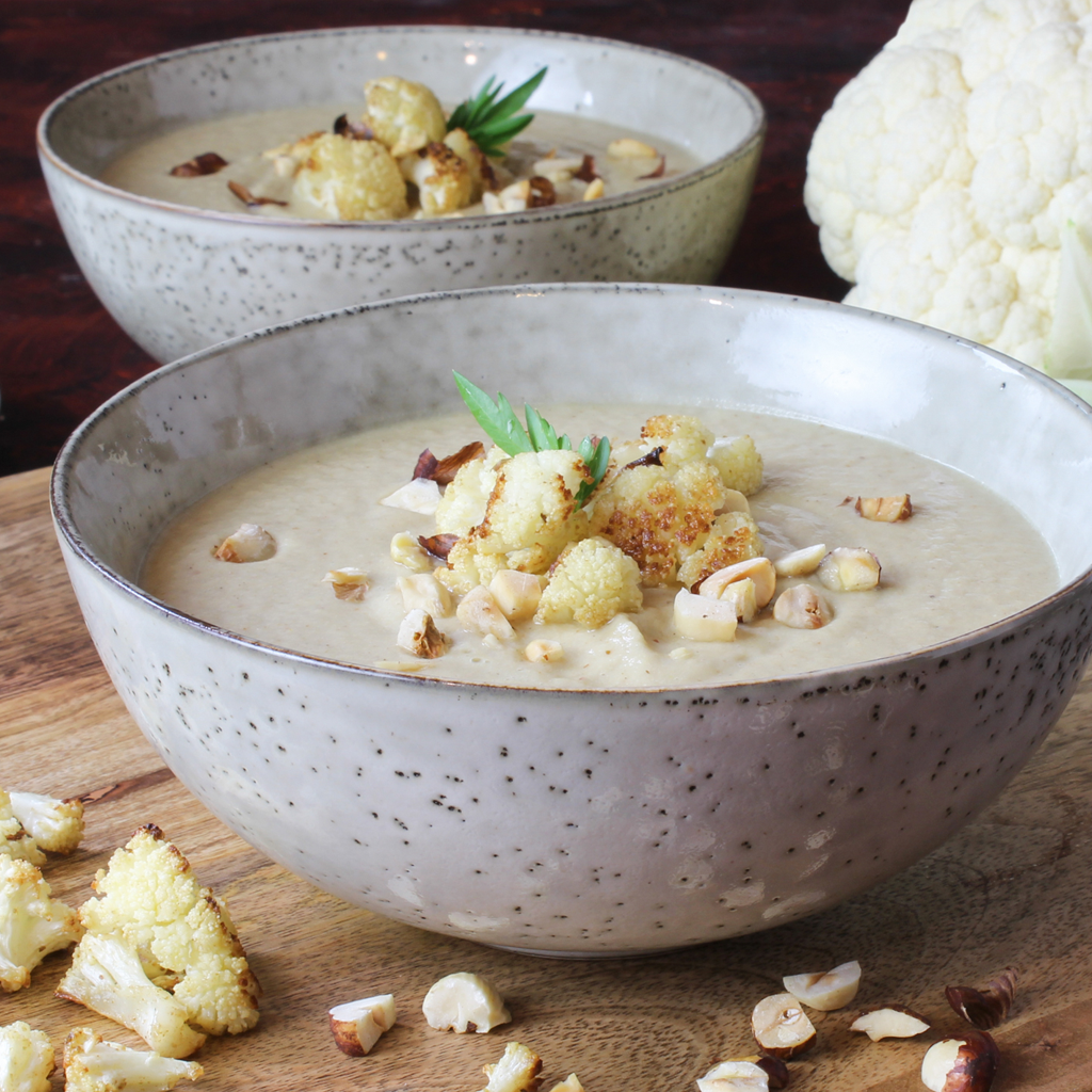 Middle Eastern spiced cauliflower soup