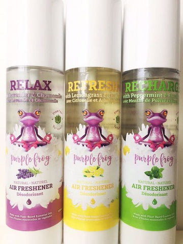 Purple Frog natural essential oils air freshening sprays