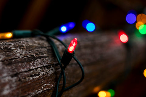 String of colourful Christmas lights