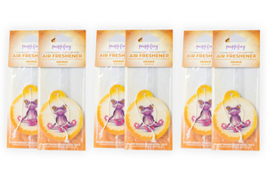Orange Car Air Freshener - Purple Frog Air Freshener