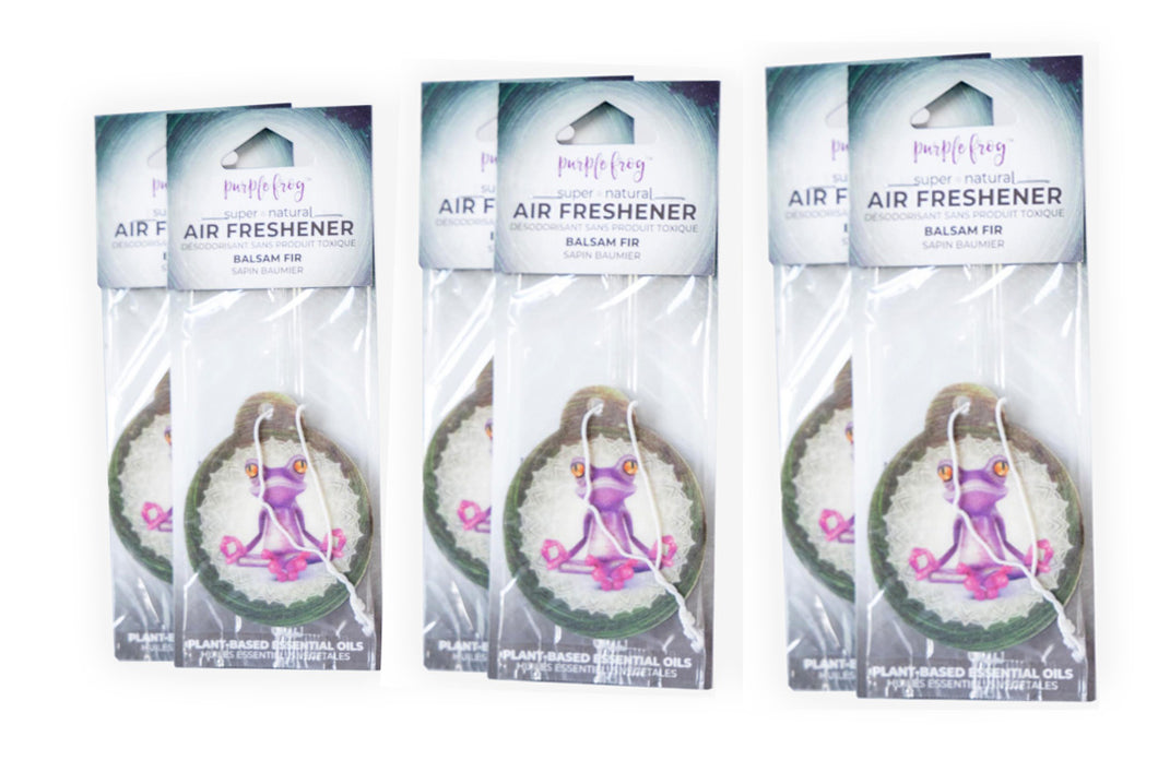 Balsam Fir Car Air Freshener - Purple Frog Air Freshener